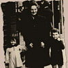 Lili Silberman and brother, Charles, with their mother in Brussels before going into hiding.