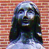 Statue of Anne Frank, by Mari Andriessen