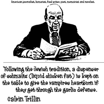 CALVIN0 TRILLIN CLICK TO ENLARGE
