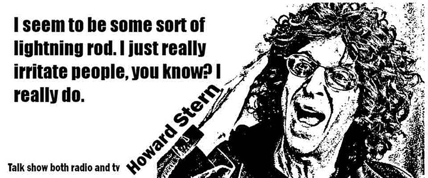 HOWARD STERN CLICK TO ENLARGE