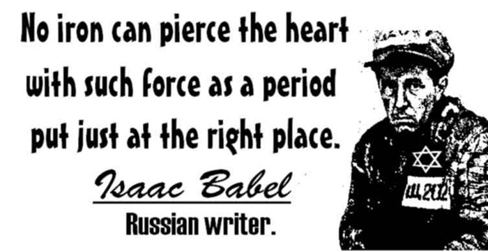 ISAAC BABEL CLICK TO ENLARGE