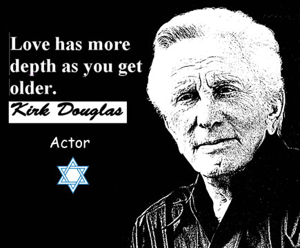 KIRK DOUGLAS CLICK TO ENLARGE