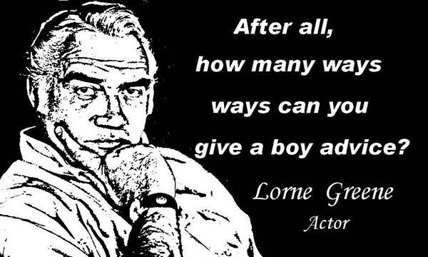 LORNE GREENE CLICK TO ENLARGE